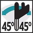 Prerja bashkuese 45° M/D